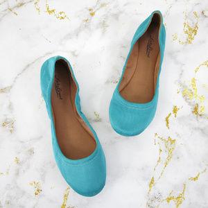 Lucky Brand Aqua Turquoise Emmie Ballet Flats 9